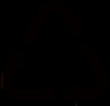Il simbolo con le tre frecce, indica che il materiale utilizzato per il prodotto è riciclabile.