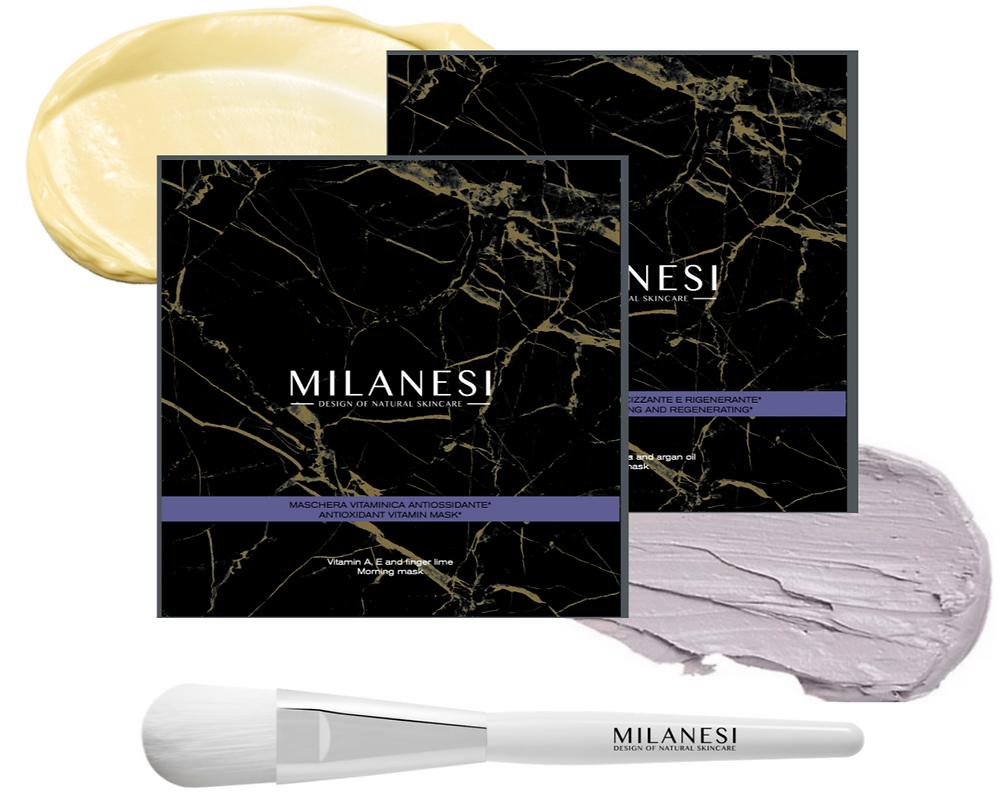Multi-vitamin recovery kit, due maschere in crema multi vitaminiche