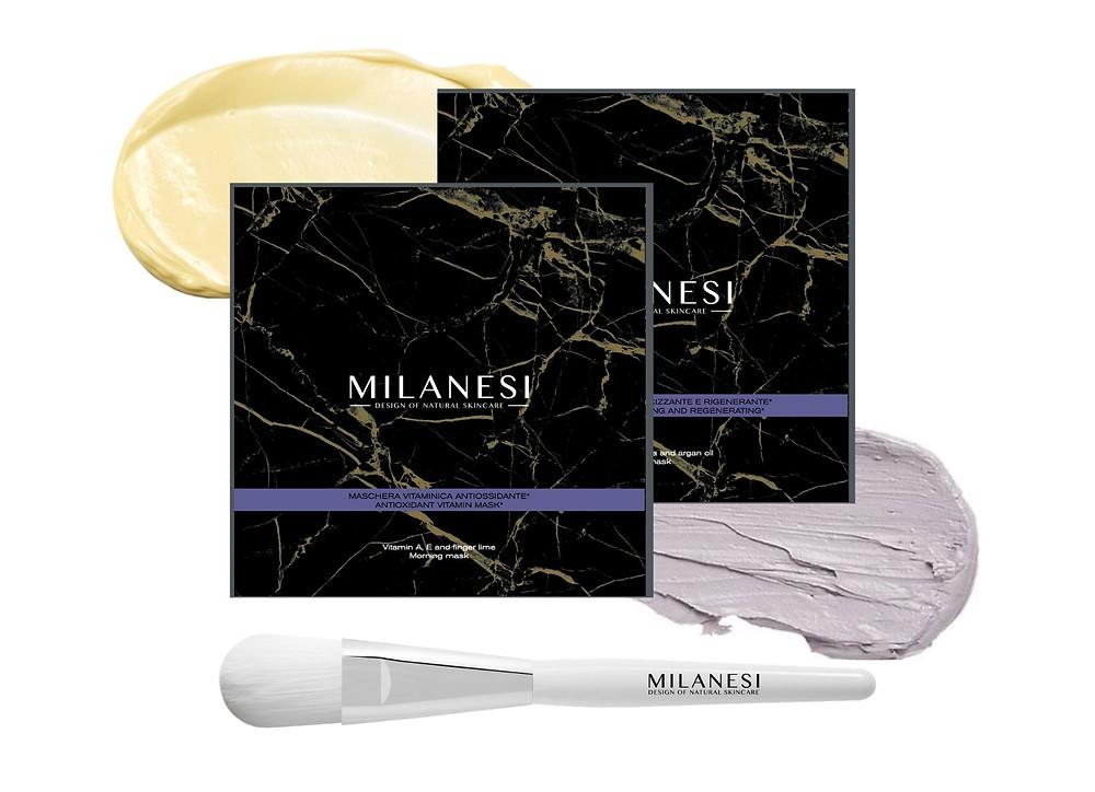 Multi-vitamin recovery kit di milanesi skincare con due maschere viso multi vitaminiche