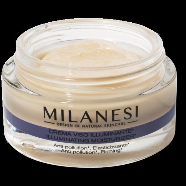 Crema viso illuminante brera con ingredienti nutrienti e antipollution