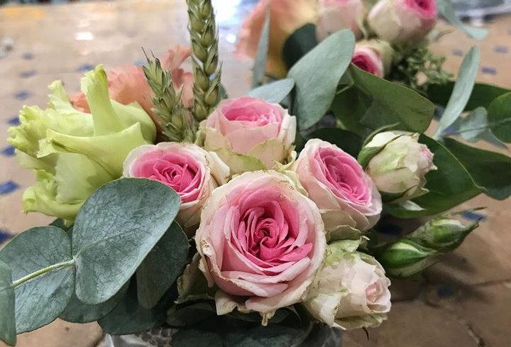 Roses pot gris
