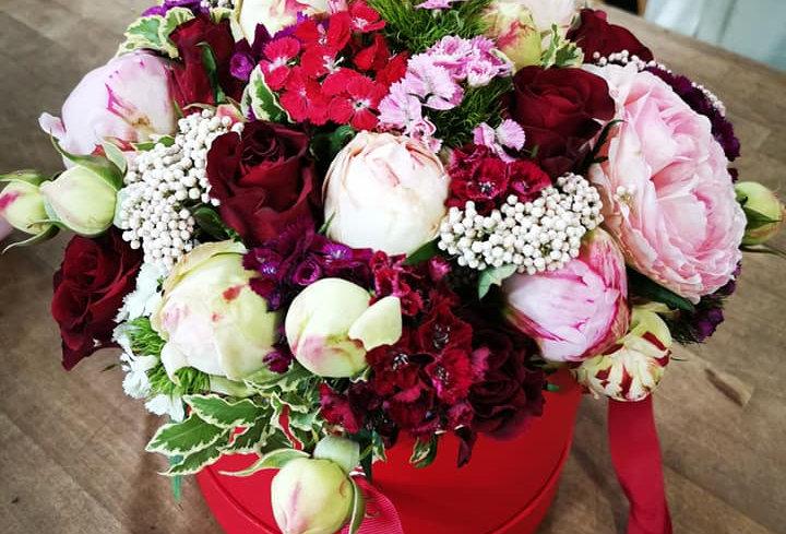 Boîte à Roses Rouges