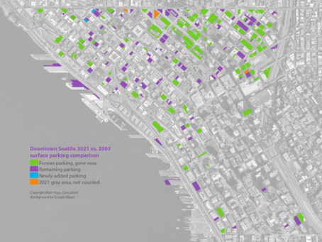Downtown Seattle Surface Parking Acreage Falls by 62%