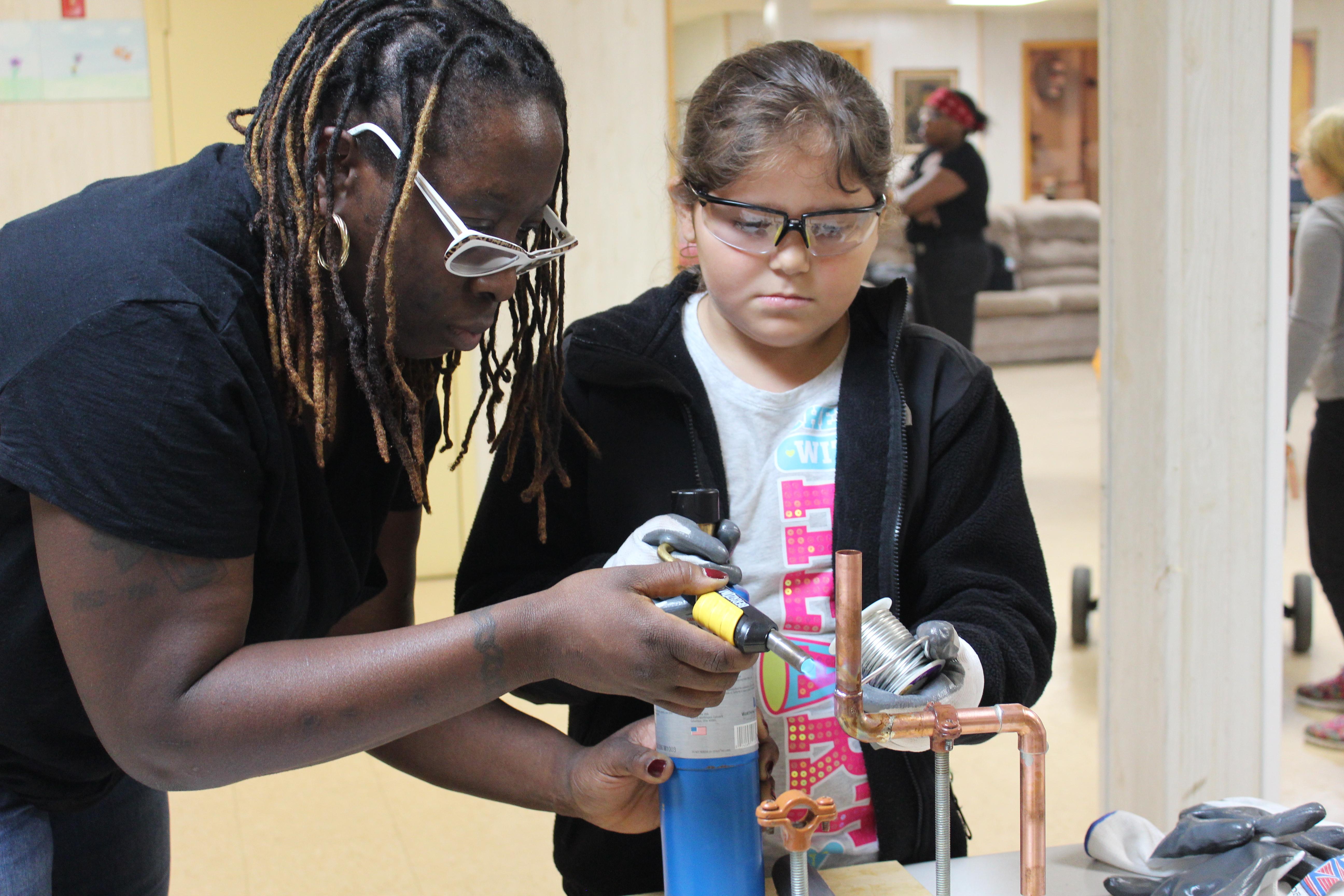 Girl Scouts Plumbing workshop