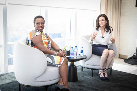 Sheryl Sandberg and Judaline Cassidy.jpg