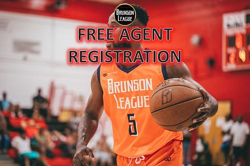 Free Agent Player Registration Form