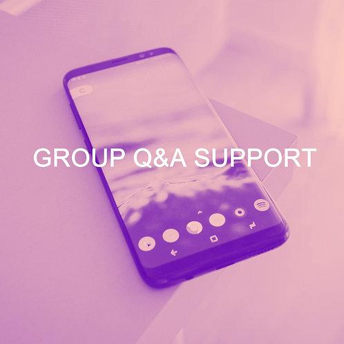 GROUP Q&A SESSION VIA ZOOM - 1 HOUR