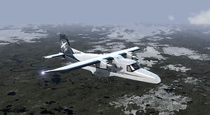 US Central Dornier 288 flying over Alaska