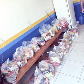 Prefeitura de Plácido, entrega cesta básica arrecadada na final campeonato de futsal feminino