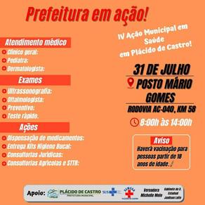 COMUNIDADE DO Km 58 TERÁ AÇÃO MUNICIPAL EM SAÚDE