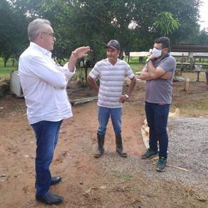 Prefeito Camilo Silva e Secretário de Agricultura visitam Presidente da Associação do Novo Horizonte