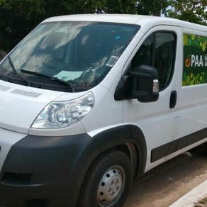 Prefeitura municipal em parceria governo federal entregam vam para transportar produção do PAA