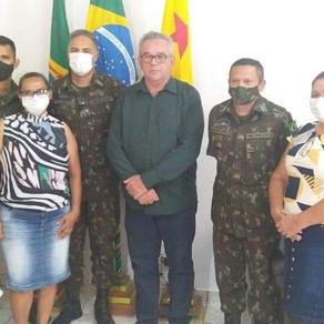 Prefeito Camilo da Silva, toma posse como Presidente da Junta de Serviço Militar em Plácido.