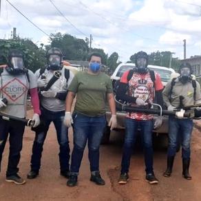 Equipe da Endemias realiza desinfecção da Dengue