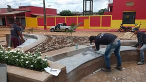 Prefeitura municipal está finalizando a construção da praça professora Balbina
