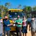 O Vice-Prefeito Enilton Pena, recebe ônibus escolar