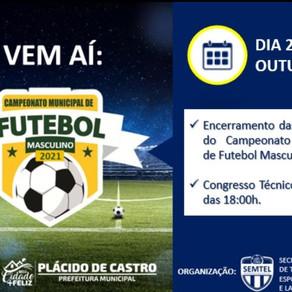 Prefeitura municipal realizará Campeonato de futebol de campo masculino
