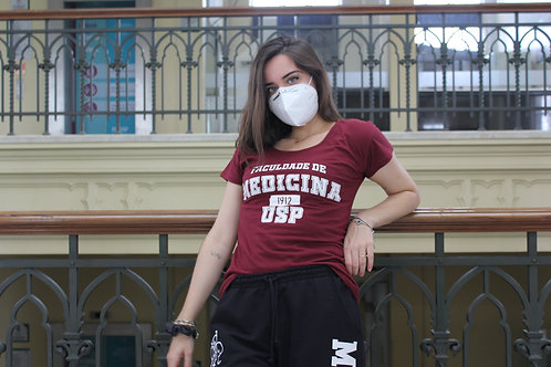 Camiseta Med USP Bordô