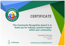 CCA 获颁社区表彰奖  CCA nominated to receive Community Recognition Award
