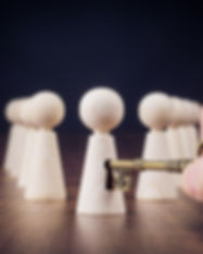 Unlock potential - motivational concept.