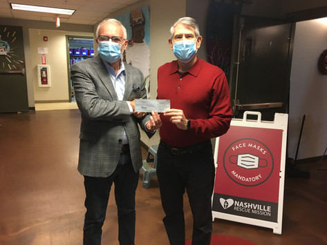 St Petka donates to the Nashville Rescue Mission