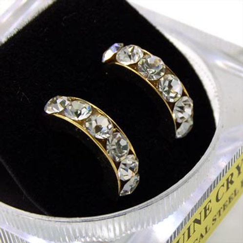 CZ CRYSTAL HOOP EARRINGS CZ CRYSTAL HOOP EARRINGS