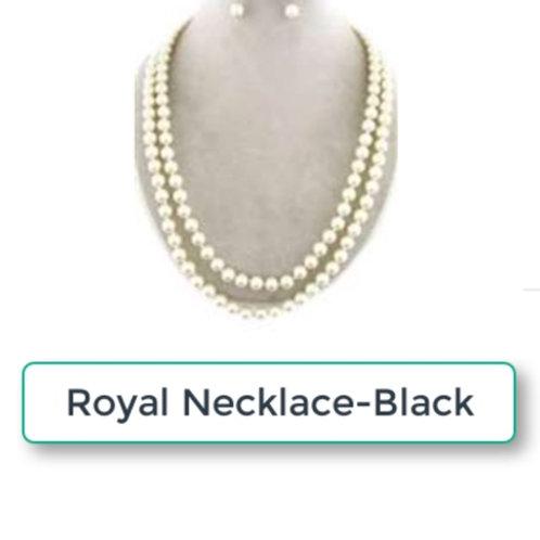 THE ROYAL NECKLACE SET - BLACK
