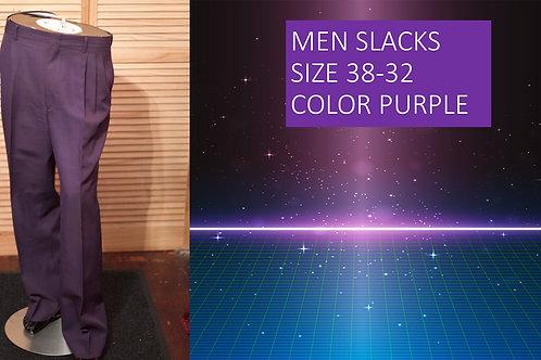MEN SLACKS COLOR PURPLE SIZE 38/32