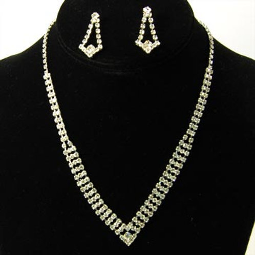 RHINESTONE COLLAR NECKLACE SET