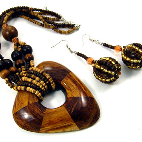 BANANA BARK NECKLACE SET