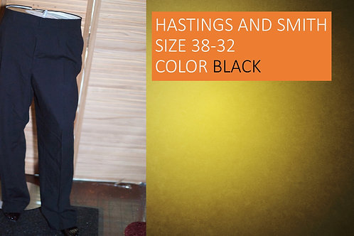 HASTING AND SMITH SIZE 38/32 COLOR BLACK