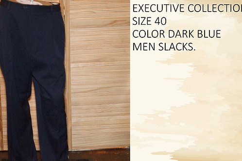 EXECUTIVE COLLECTION SIZE 40 COLOR DARK BLUE MEN SLACKS