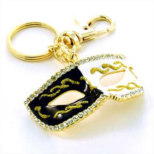 LARGE UNDERCOVER KEY CHAIN-BLACK/WHITE