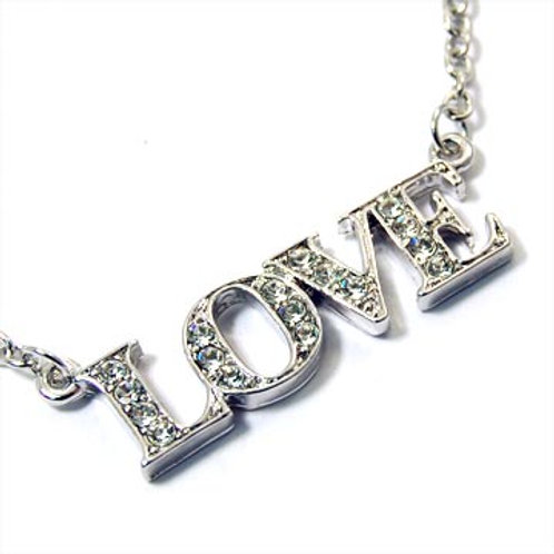 LOVE PENDANT NECKLACE-SILVER
