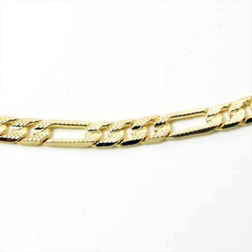 24IN 5MM PRESSED FIGARO CHAIN-GOLD