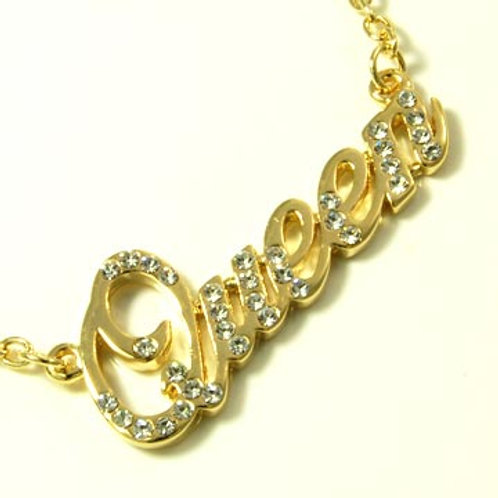 CRYSTAL QUEEN NECKLACE- GOLD