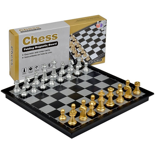 "9 BY 7"" EXQUISITE CHESS /FOLDING MAGNETIC BOARD"