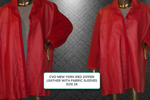 CVO NEW YORK RED ZIPPER W/FABRIC SLEEVES 2X