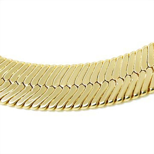 24IN 9MM HERRINGBONE THICK GOLD CHAIN