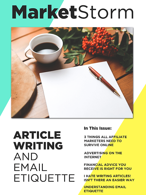 ARTICLE WRITING AND EMAIL ETIQUETTE
