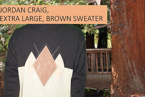 JORDAN CRAIG MEN LARGE BROWN SWEATER