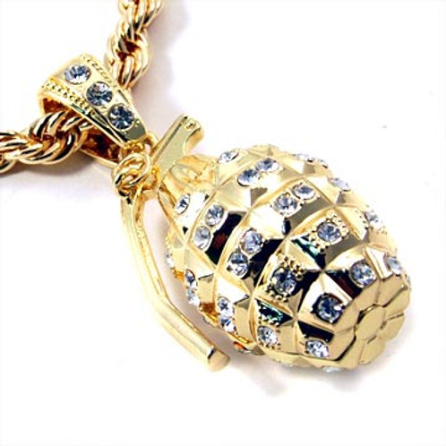GRENADE 36IN ROPE CHAIN-GOLD