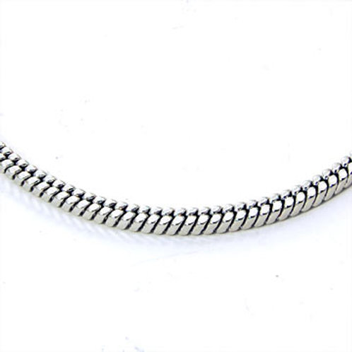 SERPENT BOX CHAIN-SILVER