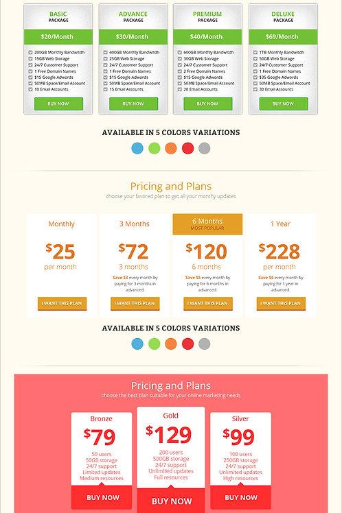 Module 5 - Pricing Table Moolahs