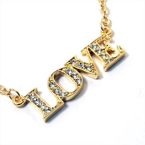 LOVE PENDANT NECKLACE-GOLD