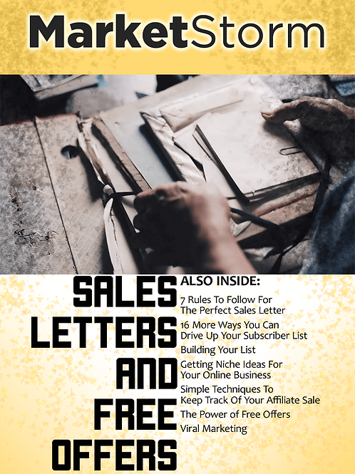 SALES LETTERSAND FREE OFFERS