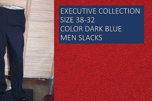 EXECUTIVE COLLECTION SIZE 38/32 COLOR DARK BLUE MEN SLACKS