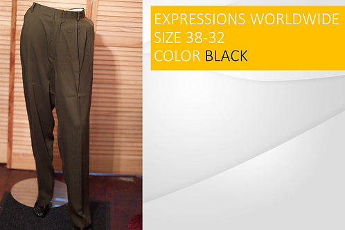 EXPRESSIONS WORLDWIDE SIZE 38/32 COLOR BLACK