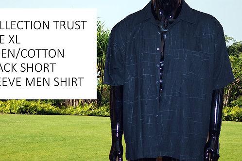 COLLECTION TRUST SIZE XL LINEN/COTTON SHORT SLEEVE MEN SHIRT