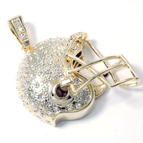 FOOTBALL HELMET PENDANT-GOLD
